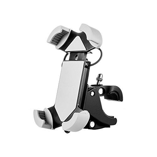 Fahrrad Handyhalter, VOGEK Universal Silikon Handyhalterung Fahrrad Motorradhalter Fahrradlenker Handy Halterung für iPhone/Samsung/BlackBerry/HTC/GPS GPS oder Geräte mit 4-6 Zoll Bildschirm (Grau) 002 Blackberry
