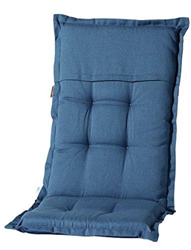 Madison 7PHOS-F293 Stuhlauflage, hoch Rib, 123 x 50 cm, Baumwolle / Polyester, grau