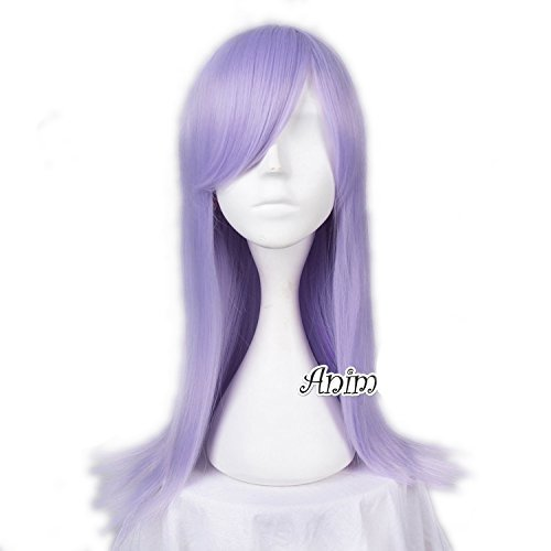Preisvergleich Produktbild Top Cosplay 55cm Long Light Purple Lolita Straight Anime Women Girls Cosplay Wig
