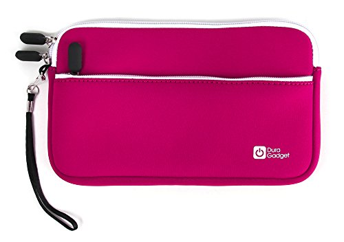Tasche | Etui | Case | Schutzhülle in ROSA mit Handschlaufe und Außenfach, wasserabweisendes Neopren-Material, für Texas Instruments TI-Nspire, TI-89 Titanium, TI-84 Plus und TI-84 Plus Silver Edition grafische Taschenrechner (Rechner ist NICHT im Lieferumfang enthalten!)