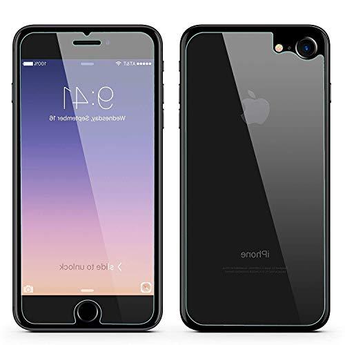 Preisvergleich Produktbild lovigo - Panzerglas kompatibel mit iPhone 8 Front + Back Glasfolie Glasprotector Schutzglas Displayschutz aus echt Glas