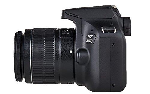 Canon EOS 4000D Appareil Photo avec Objet EF-S 18-55mm III, 18 MP, Noir