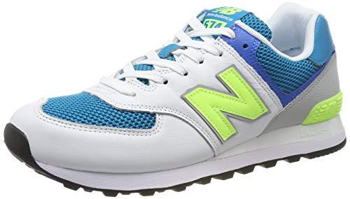 New Balance Herren ML574P Sneaker, Blau (Deep Ozone Blue), 45 EU