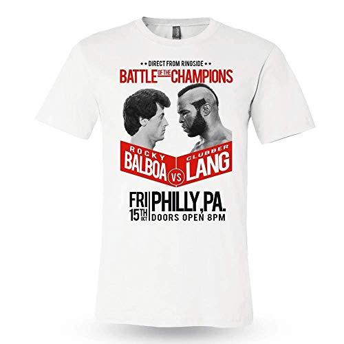 Lang weiß Boxtraining Premium Herren T-Shirt Film ROCKY III - Weiß, Large ()