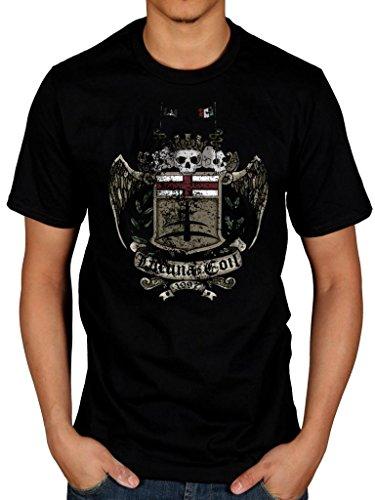 Ufficiale Lacuna Coil Shield maglietta italiana in metallo Black Medium