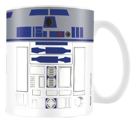 Star Wars MG23497 8 x 11,5 x 9,5 cm R2 D2 pulgada taza de cerámica, M