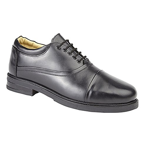 Roamer Mens Capped Oxford Padded Leather Shoes (10 UK) (Black)