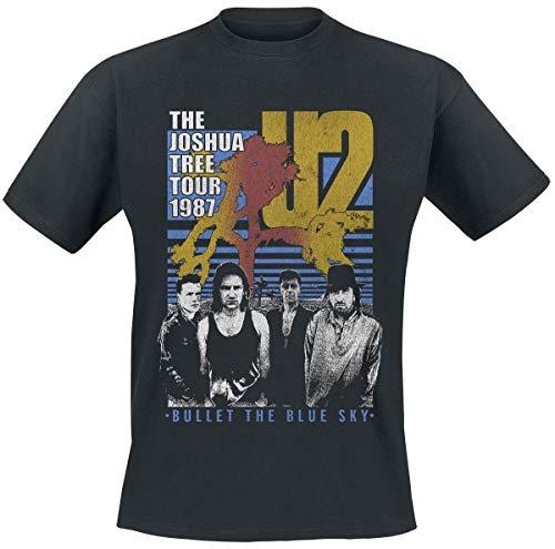 U2 Bullet The Blue Sky - Joshua Tree Tour 1987 Camiseta Negro L