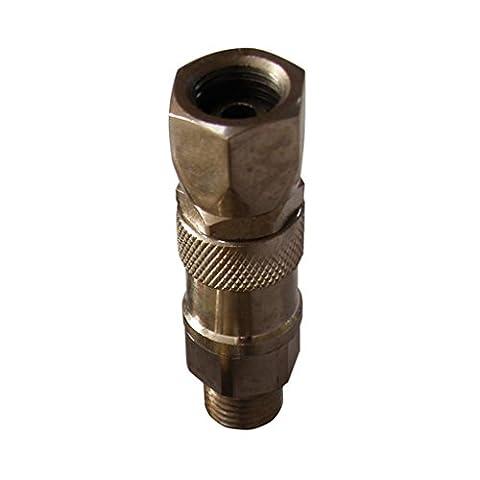 Gazechimp Connecteur Joint 1/4'' - 1/4'' Adaptateur Robuste Pulvérisation Pistolet Pour Ttitan Airless Paint