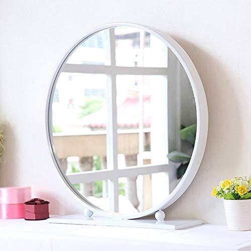 Preisvergleich Produktbild Jiamuxiangsi- Schminkspiegel - europäischer Desktop-Spiegel,  runder Schminkspiegel,  DREI Farben optional ==Spiegel (Farbe : Weiß,  größe : 40cm)