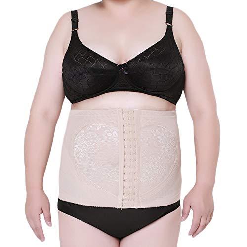 Donna corsetto dimagrante waist trainer corpetto bustino body shaper modellante taglie forti albicocca xl