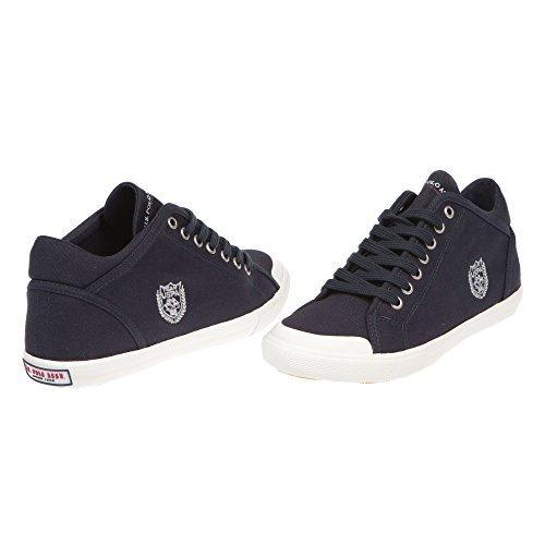 U.S. POLO Sneaker Chaussures femme avec lacets - mod. DYON4191S7-C1 bleu foncé