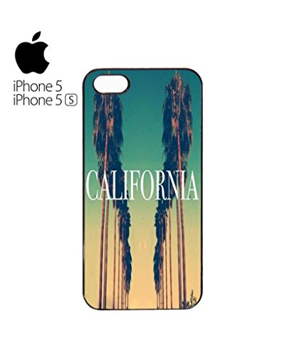 California City Vintage Retro Mobile Cell Phone Case Cover iPhone 5c Black Blanc