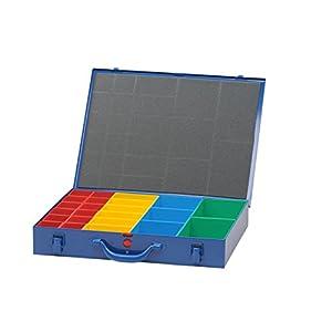 hünersdorff Metall Sortimentskasten: sehr stabiler Metall-Kleineteile-Koffer, Fachaufteilung, luftdicht, verschließ- und verplombbar