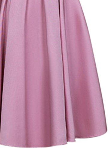 AZBRO Damen Elegantes Blumen Spitze verziertes Bogen-Tailler Prom-Kleid Black