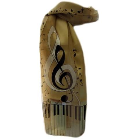 New Company saffico Musical G a forma di chiave con note musicali e note musicali antisguardi - taglia unica