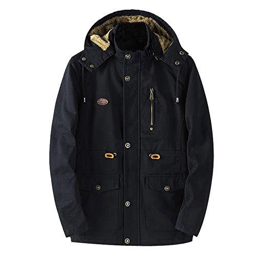 Yanhoo Herrenmode Herbst Winter Jacke Zip Knopf Verdickte Warme Plus SAMT Parka Mantel Steppjacke Übergangsjacke Mantel Outwear