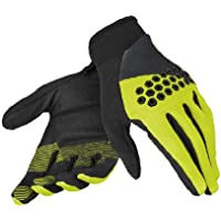 Dainese Guantes Rock Solid-D, Negro/Fluo Yellow, XL