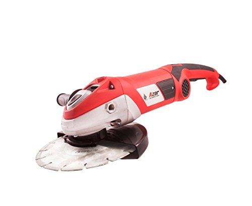 Azor AA-3977 Amoladora angular, 2350 W, 230 V, Rojo y Negro