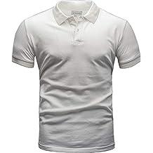 e9023bbeb1cc4c Crone Paul Herren Polo Shirt Pique Regular Slim Kurzarm Polohemd