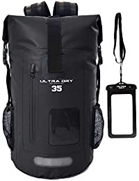 Premium-Rucksack, mit Telefon-Trockenbeutel, wasserdicht, perfekt für Boot-/Kajak-/Kanufahren, Angeln, Rafting, Schwimmen, Camping, Snowboarden.