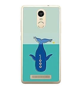 Blue Whale 2D Hard Polycarbonate Designer Back Case Cover for Xiaomi Redmi Note 3 :: Xiaomi Redmi Note 3 Pro :: Xiaomi Redmi Note 3 MediaTek