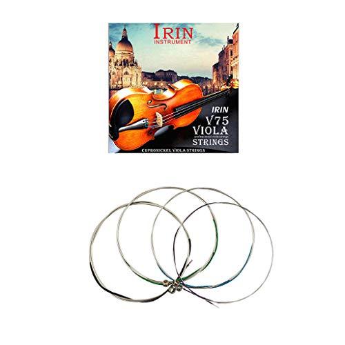 IRIN V75 Cupronickel Viola-Saiten 1-4(.014 .020 .029 .039) Neusilber umsponnen -