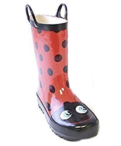 Kids 3D Ladybird Animal Wellies/Wellington Boots with Handles