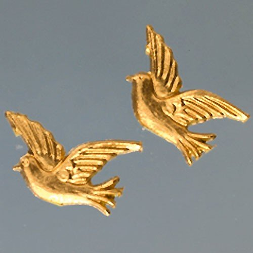 "efco ""Dove Wachs Dekoration Gold Brilliant, 30 x 34 mm, 2-teilig"