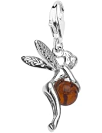 In Collections - 20200060890 - Charms Femme - Argent 925/1000 rhodié - ambre