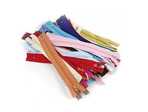 50PCS 7 Zoll 18cm langes Nylon schließte beendeten Reißverschluss Reißverschlüsse für das Nähen der Kleidung gelegentliche Farbe (Kostüm Diy Klammern)