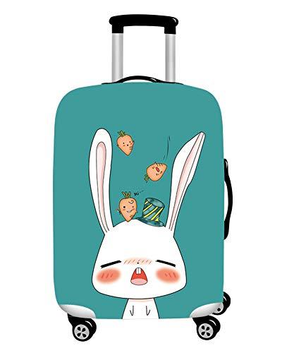 MISSMAO_FASHION2019 Lavabile Viaggio Bagagli Coprire Copri Valigia Copertura per Valigia Stampa 3D Coniglio Carino Style1 XL(Fit 29-32 inch Luggage)