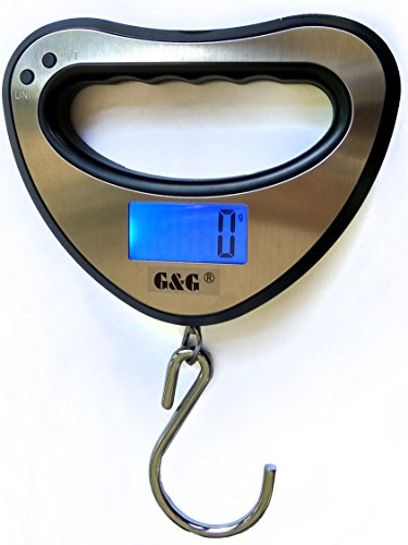 44kg/10g OCS-XY Fischwaage Anglerwaage Hängewaage Reiswaage G&G
