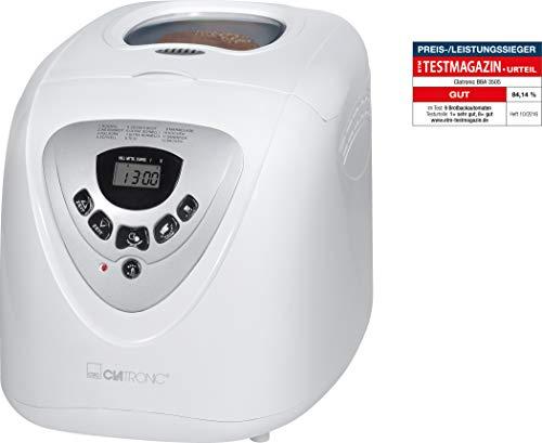 Clatronic BBA 3505 HA-BREAD-27, Edelstahl, 2 liters, Weiß