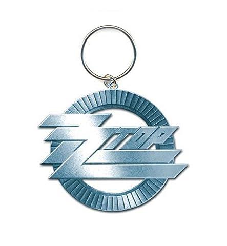 ZZ Top Porte-Clés Keychain Circle band Logo nouveau officiel metal