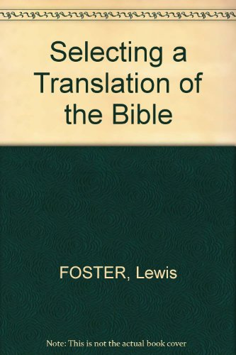 Selecting a translation of the Bible