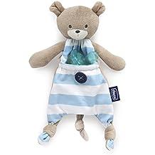 Chicco Pocket Friend - Guarda chupete tierno y suave para enganchar el chupete, color azul