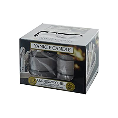 Yankee Candle Classic Tea Lights Crackling Wood Fire, Grey, 8.4 x 8.4 x 6.1 cm by Yankee Candle