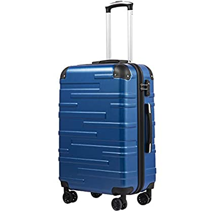 COOLIFE-Hartschalen-Koffer-Rollkoffer-Reisekoffer-Vergrerbares-Gepck-Nur-Groer-Koffer-Erweiterbar-ABS-Material-mit-TSA-Schloss-und-4-Rollen