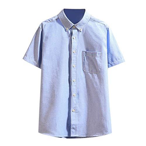 T-Shirt Shirt Herren Slim Fit Sommer Kurzarm Streifen Fitness Tee Sweatshirt Unterhemden Muskelshirt Lang Shirt Top
