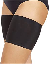 Bandelettes (bandas elásticas unisex para evitar el roce de los muslos) (A, Negro)