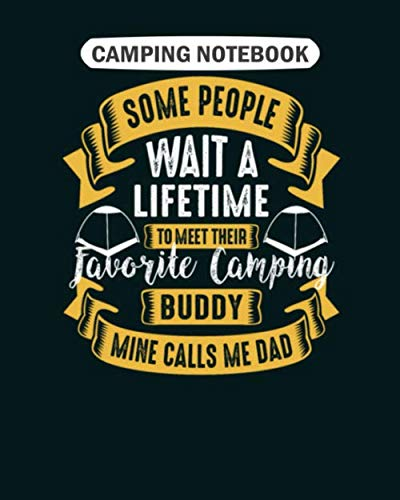 Camping  Notebook: camping buddy  College Ruled - 50 sheets, 100 pages - 8 x 10 inches