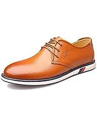 wzw moda Hombre de piel auténtica/Real de negocios Casual zapatos/Oxfords, marrón