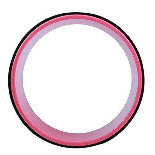 Timberbrother Yoga-Wheel / Yoga-Rad zur schonenden entlastung ihrer Wirbels?ule, Verbesserung der Flexibilit?t bei Yoga¨¹bungen, Durchmesser 33cm (Schwarz/ Rosa)
