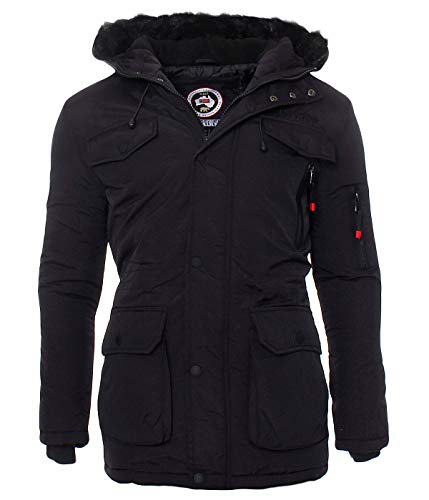 PJ5 Geographical Norway Alos Herren Winter Jacke Parka Parker Schwarz L –  Geographical Norway On Sale 2d7dd5dd43