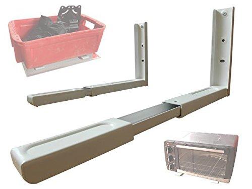 krowelle Wandhalterung in der Küche oder Halterung für Lautsprecher Regal Ablage Rack ausziehbar Modell: H71VA, Farbe:Weiss ()