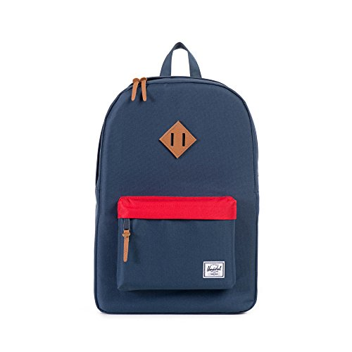 Herschel Supply Company SS16 Casual Daypack, 23 Liters, Navy/ Red Flap/ Tan