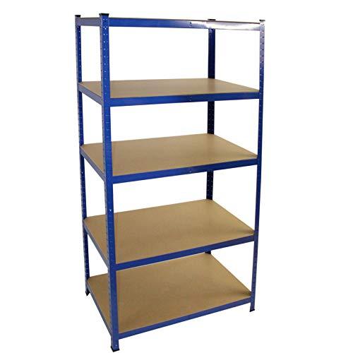 Steckregal 200x100x50 cm oder 200x120x60 - 875 kg - Farbe wählbar - Werkstattregal Kellerregal Schwerlastregal Regal (200 x 100 x 50 cm, Blau)