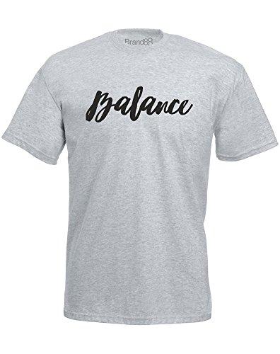 Brand88 - Brand88 - Balance, Mann Gedruckt T-Shirt Grau/Schwarz