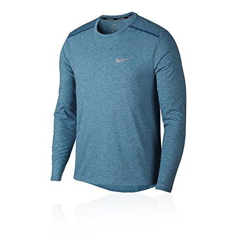 Nike Men 's Breathe Rise 365Running Top T-Shirt Running, Herren Blau/Grau
